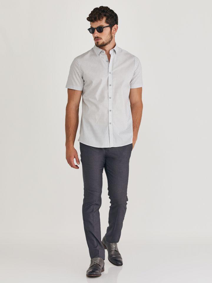 MAX MORETTI חולצה מכופתרת משבצות קטנות