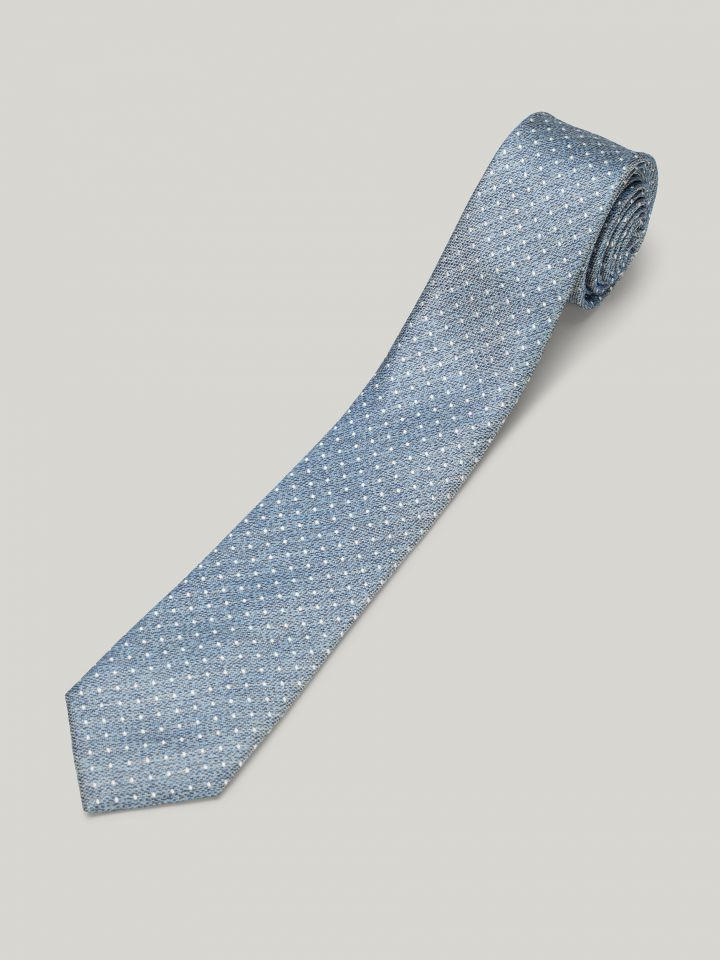 MAX MORETTI עניבת משי נקודות