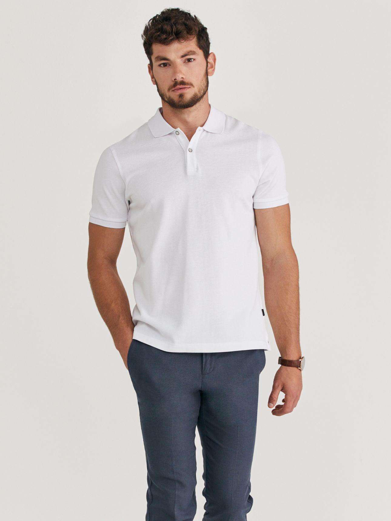 MAX MORETTI חולצת פולו פיקה